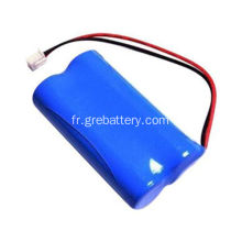 Batteries rechargeables au lithium AA de 7.4V 800mAh